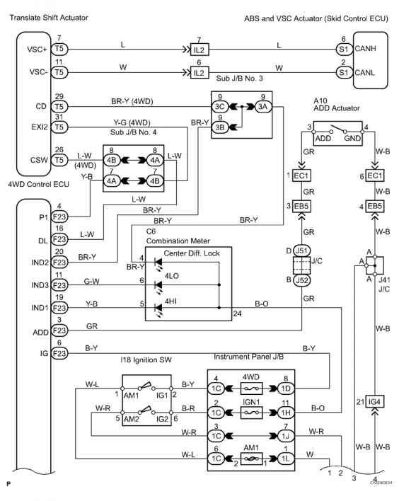 2002 toyota sequoia wiring diagram toyota sequoia 2006 repair 73 center differential lock wiring diagram 1 of 2 courtesy of toyota motor s u s a inc