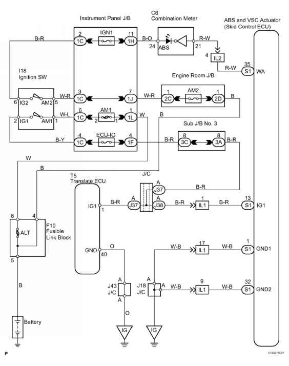 check harness and connector booster pedal force switch skid control rh toyotaguru us Toyota Sienna Buzzer Diagram Wiring-Diagram 2005 Toyota Sienna