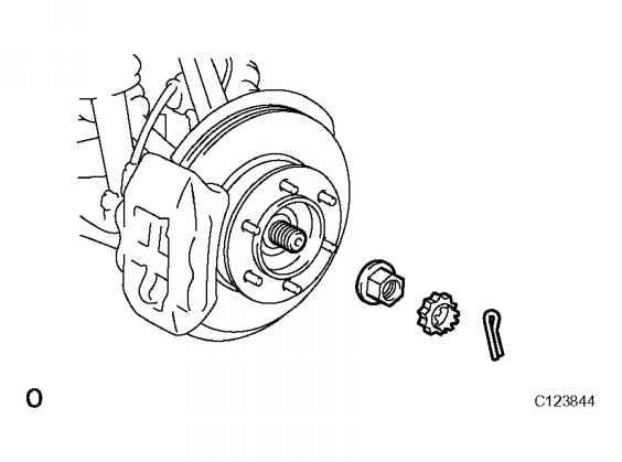 remove front wheel - toyota sequoia 2007 repair