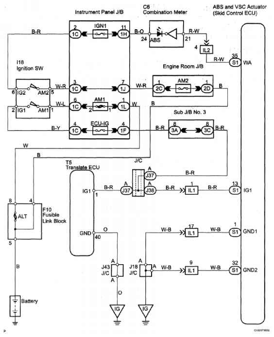 dtc vehicle can communication malfunction description - toyota, Wiring diagram