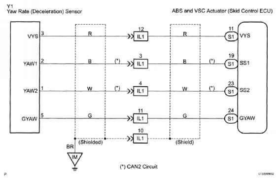 Dtc C Stuck In Deceleration Sensor Dtc C Open Or Short In