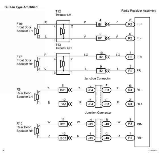 2003 toyota sequoia wiring diagram speaker circuit    toyota       sequoia    equipment    toyota     speaker circuit    toyota       sequoia    equipment    toyota