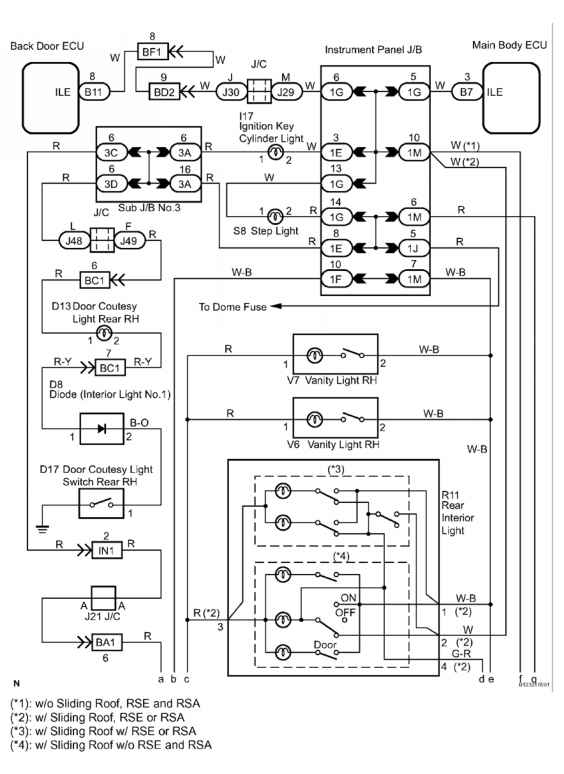 2006 toyota sequoia start circuit toyota sequoia equipment 35 illumination circuit wiring diagram 1 of 2 courtesy of toyota motor sales usa inc asfbconference2016 Gallery