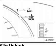 Engine coolant temperature indicator and warning light  Toyota
