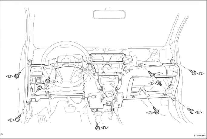 remove instrument panel cup holder subassembly rh