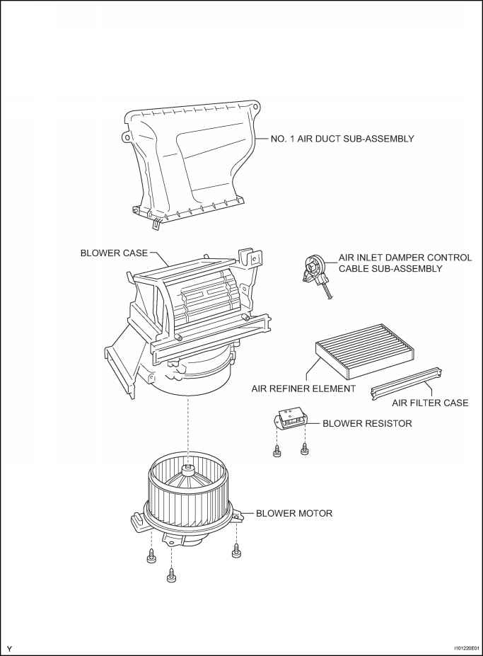 blower unit for hatchback components